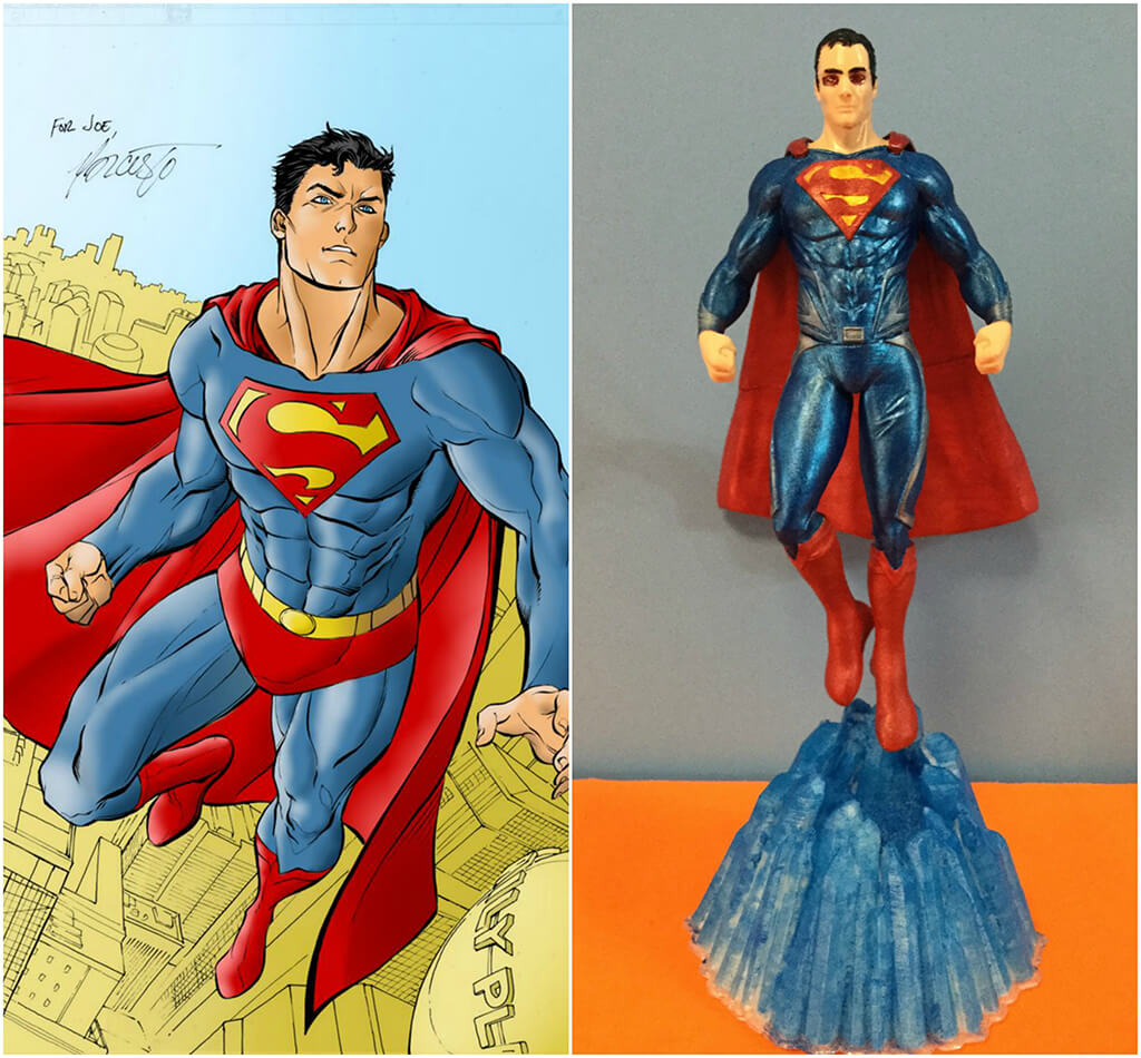 Superman DC Comics 3D printing miniatures