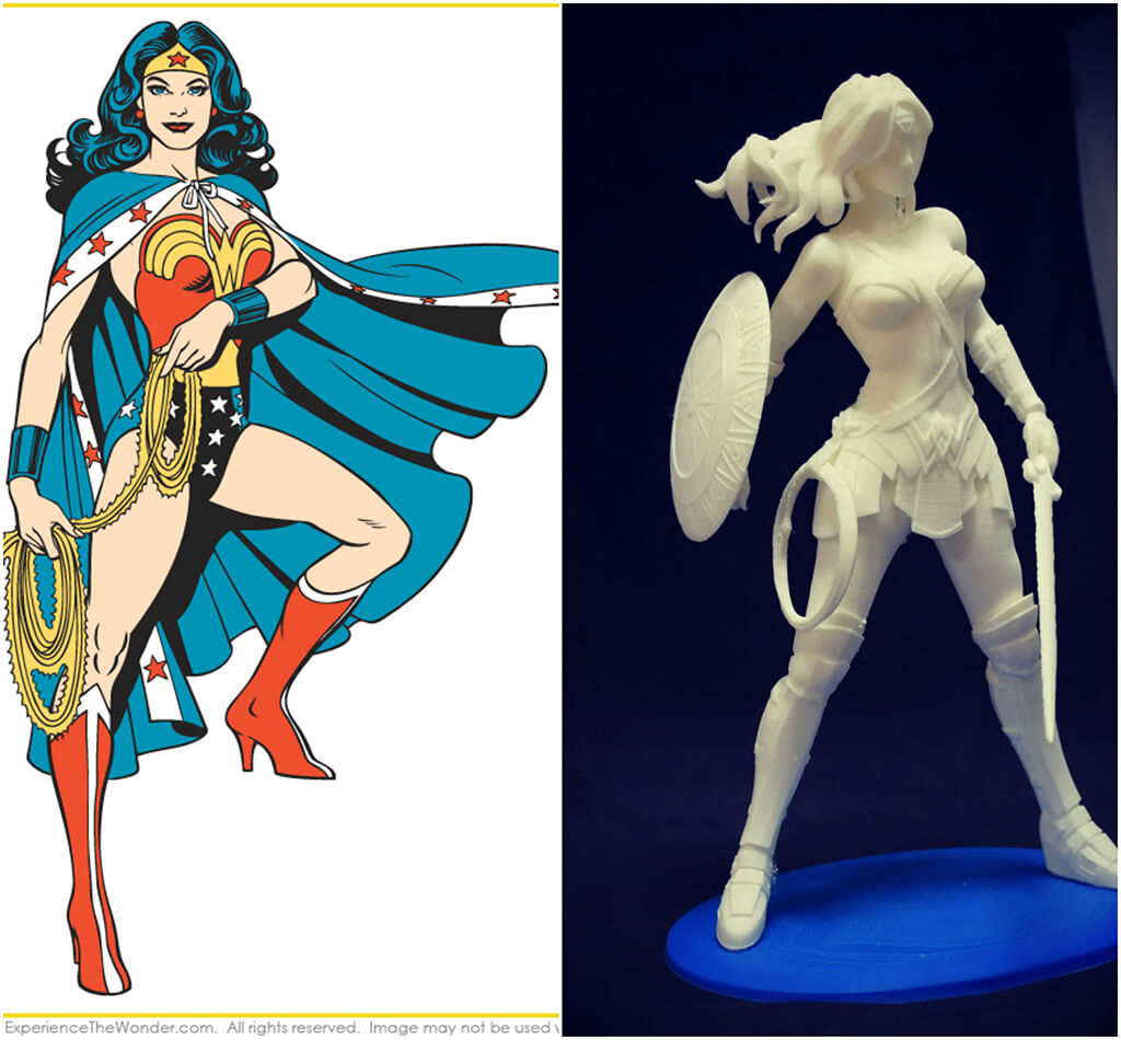 Wonder Woman DC Comics 3D printing