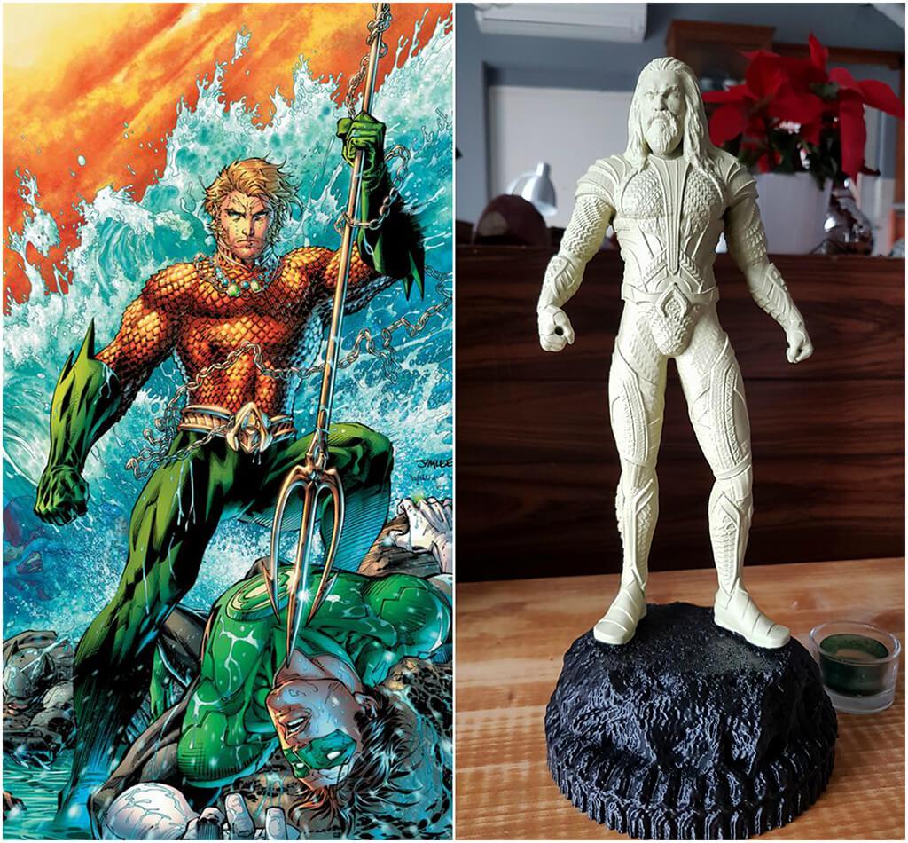 Aquaman DC Comics 3D printing miniatures