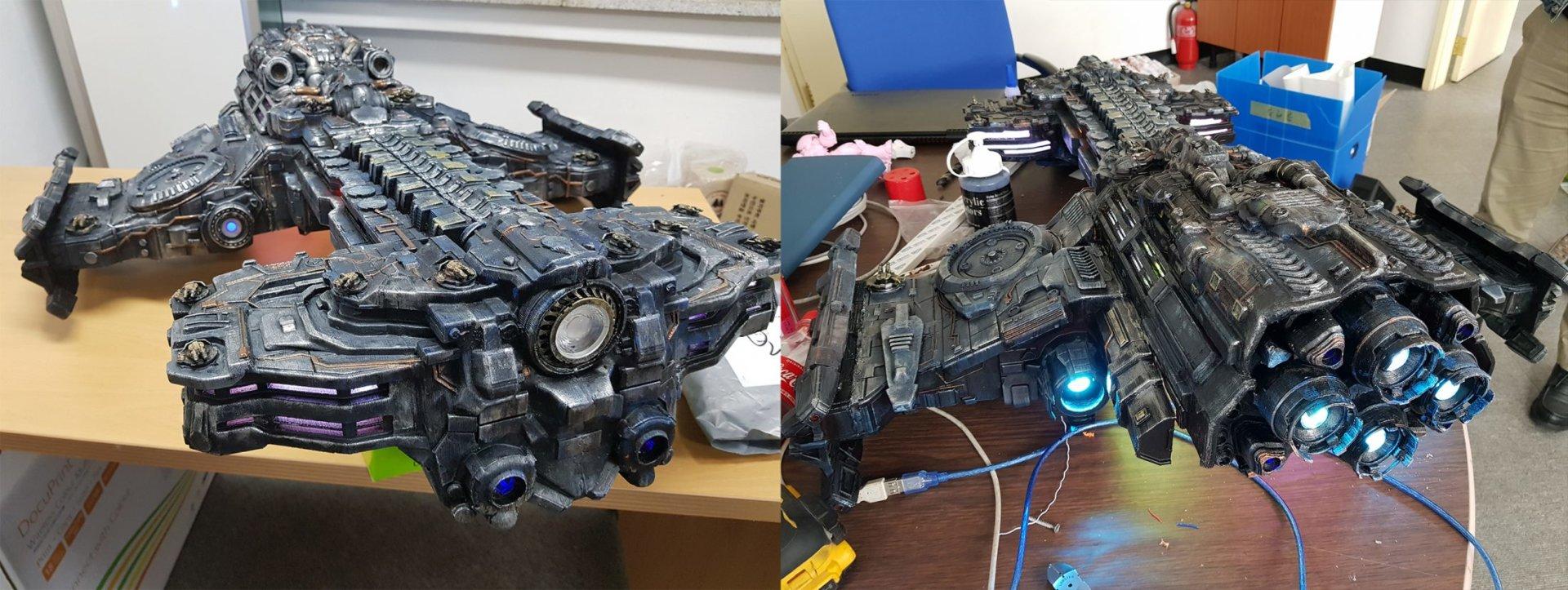 Meet the Maker of the 3D Printed Starcraft Battlecruiser