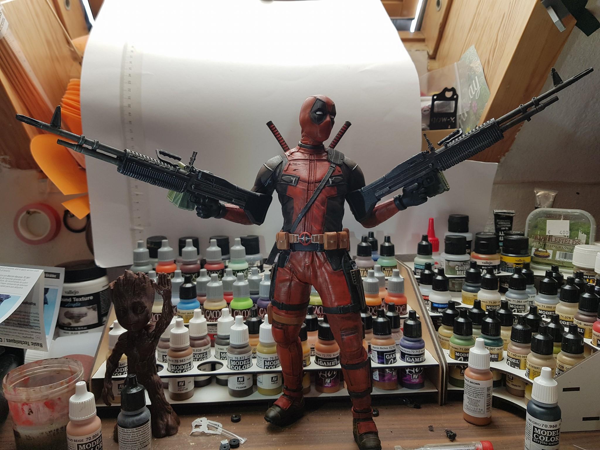 Deadpool 3D Printing Figurine Photo 3