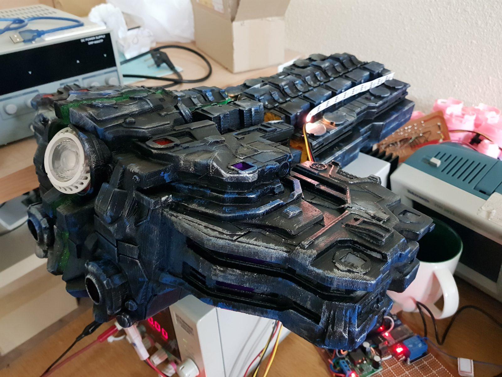 starcraft battlecruiser 3d printed model