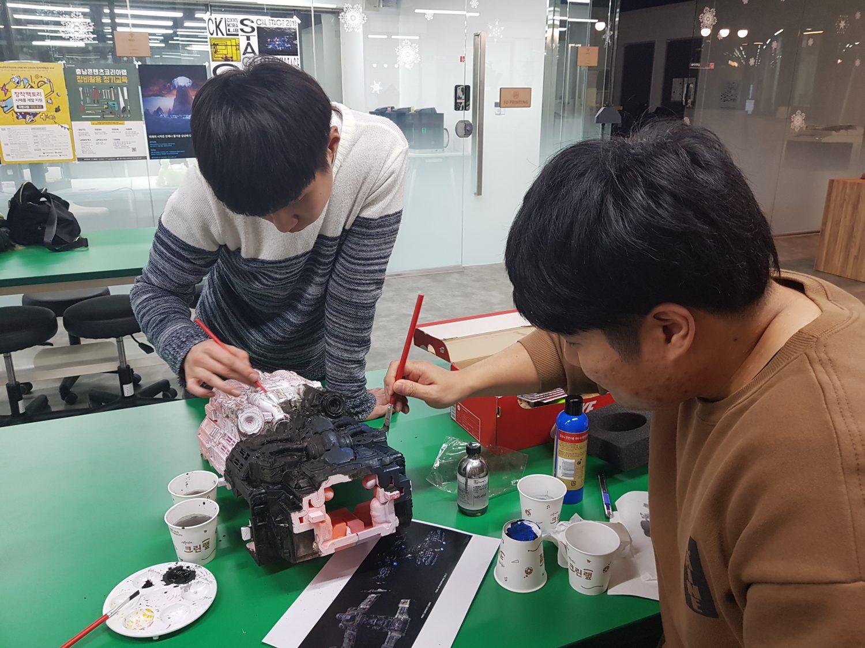 Painting 3D Printed Star Craft Battlecruier