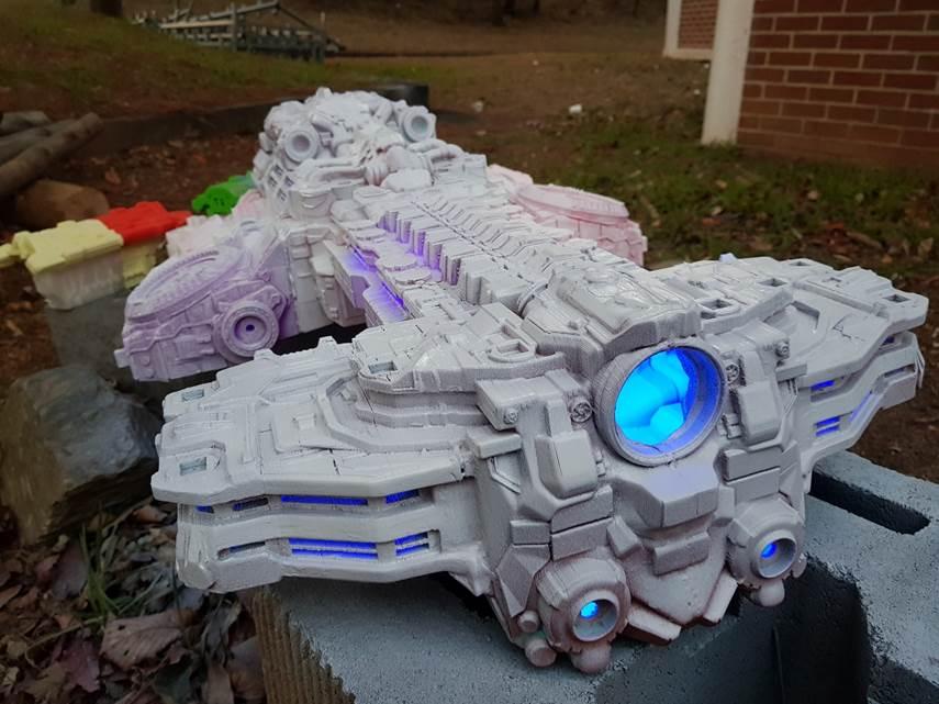 3d printed starcraft battlecruiser model