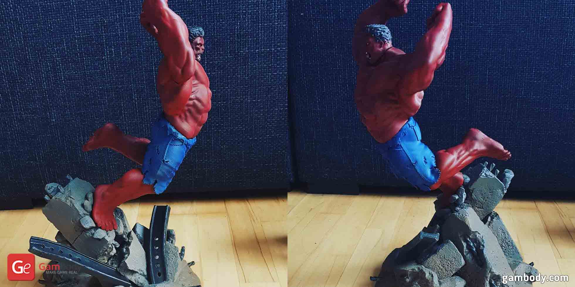 Red Hulk 3D Printing Figurine
