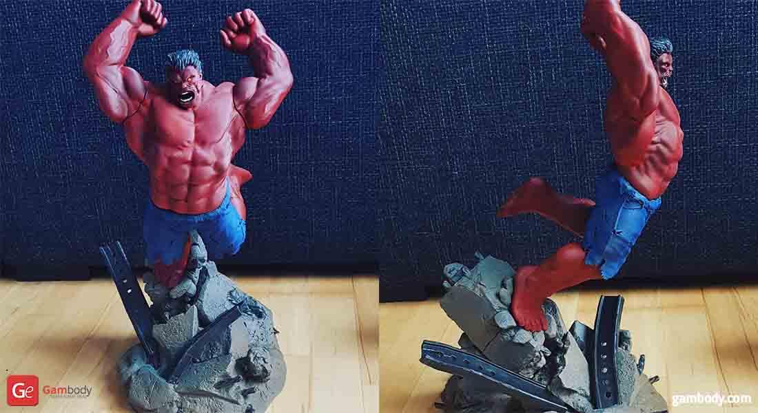 Red Hulk 3D Printing Figurine Gambody