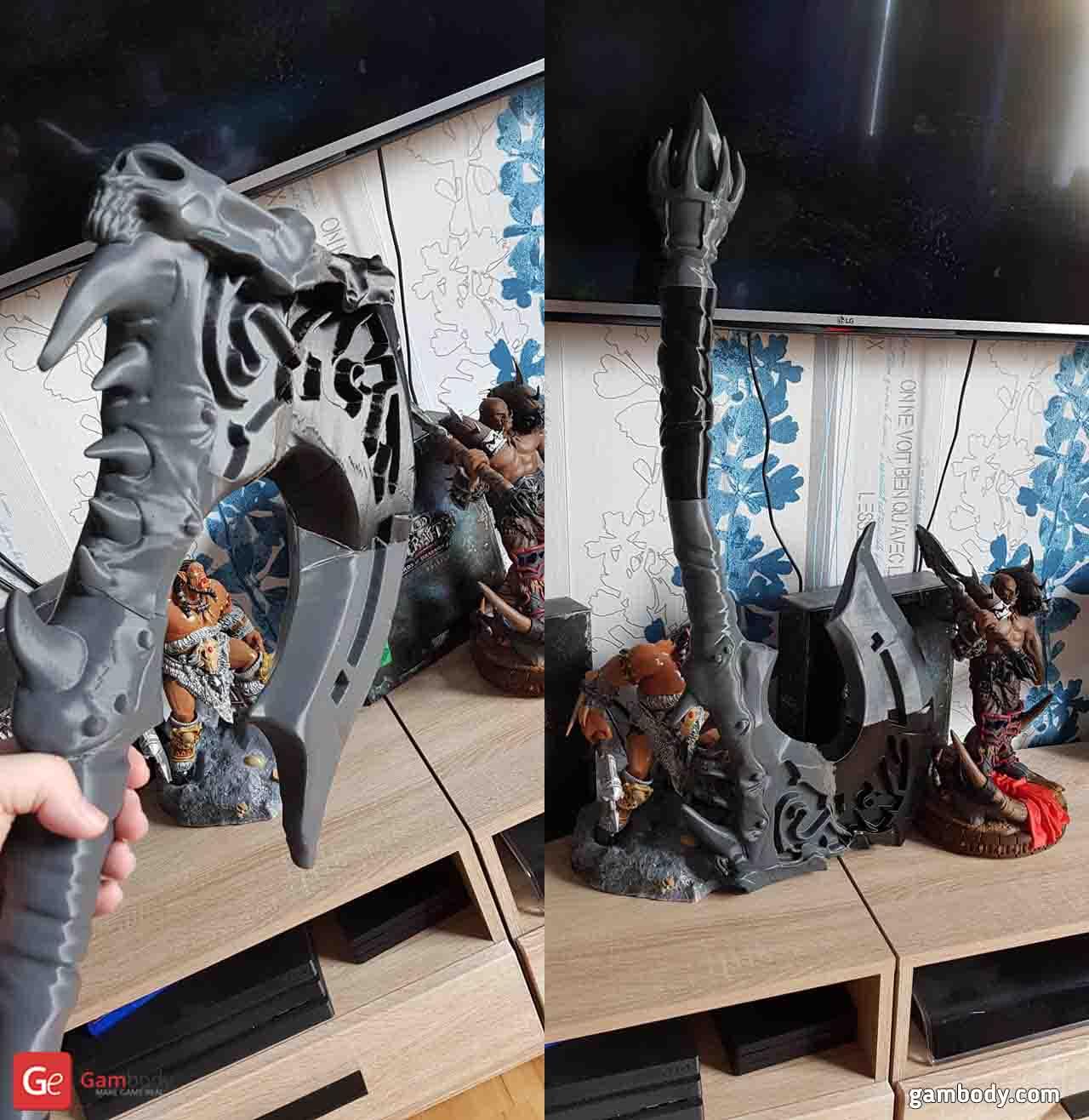 Axe of Garrosh 3D Printing Figurine