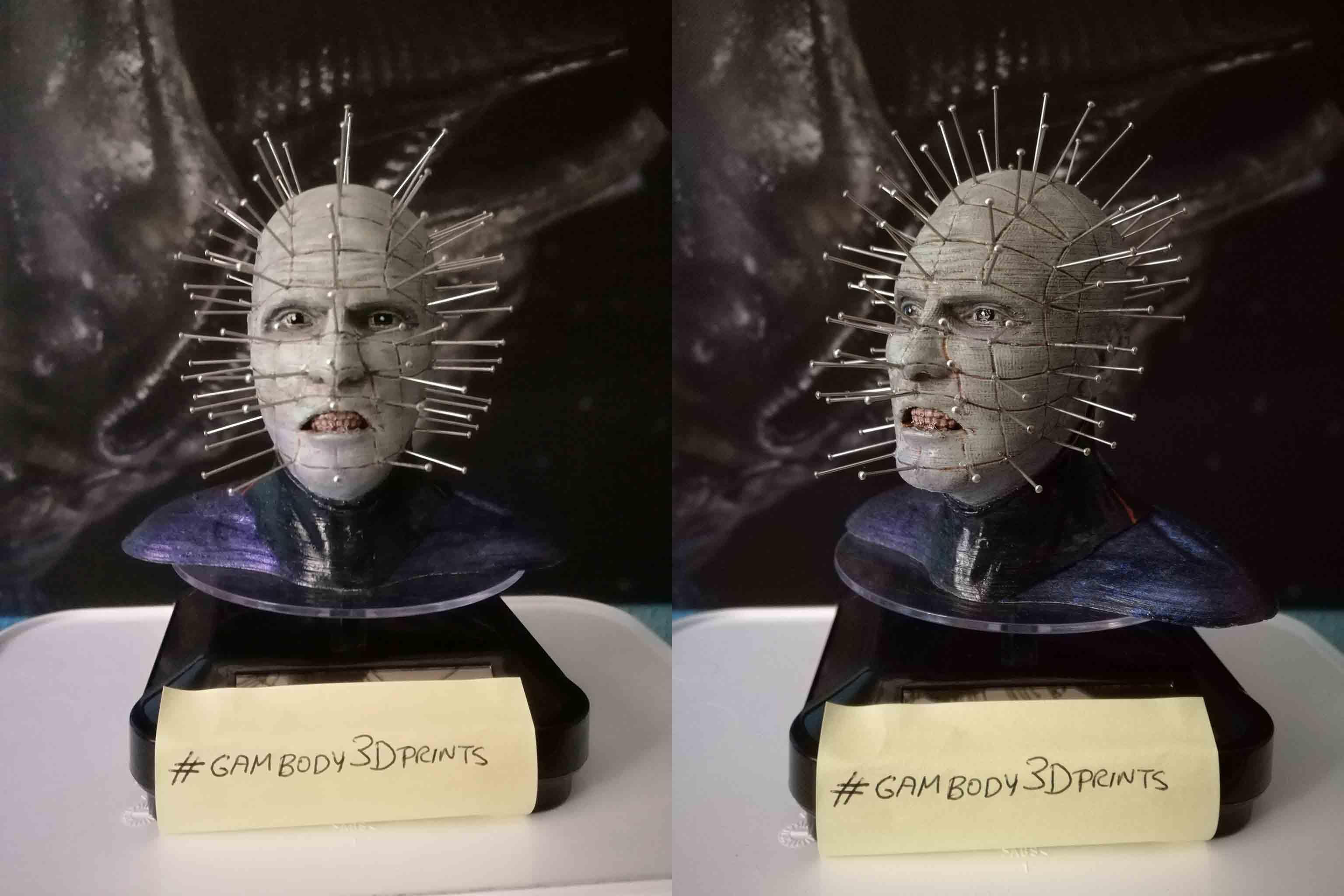 Pinhead 3D Printing Bust