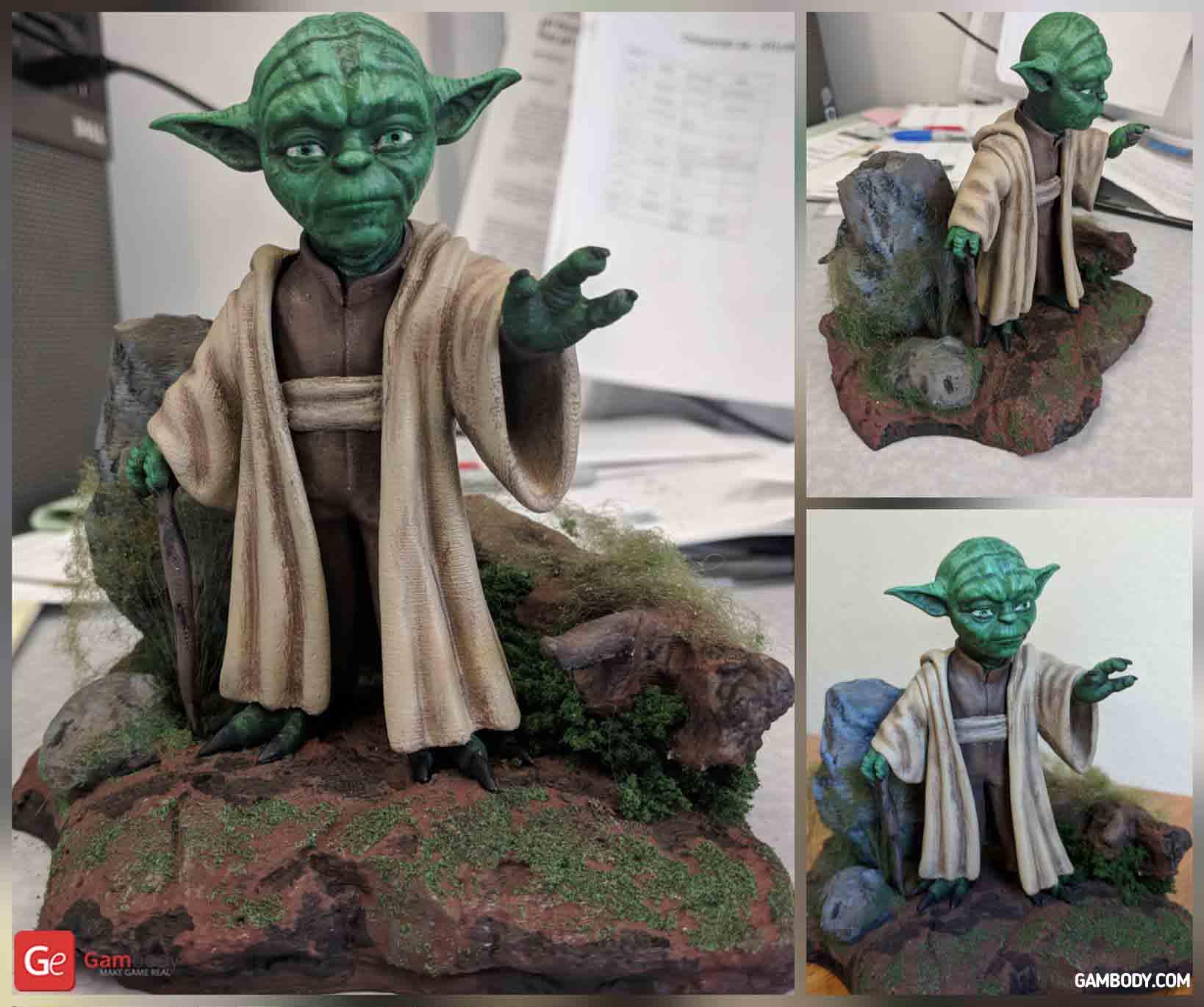 Yoda 3D Printing Figurine