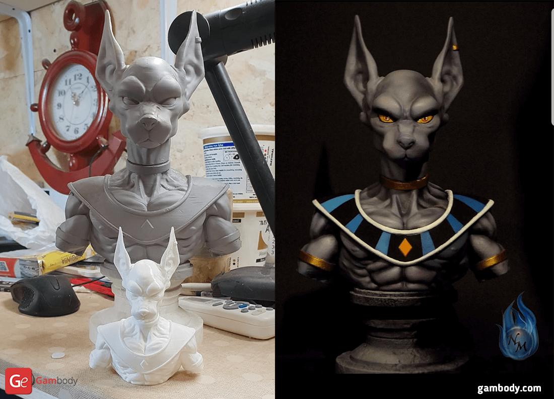 Beerus 3D Printing Bust
