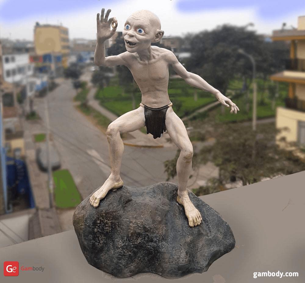 Gollum 3D Printing Figurine