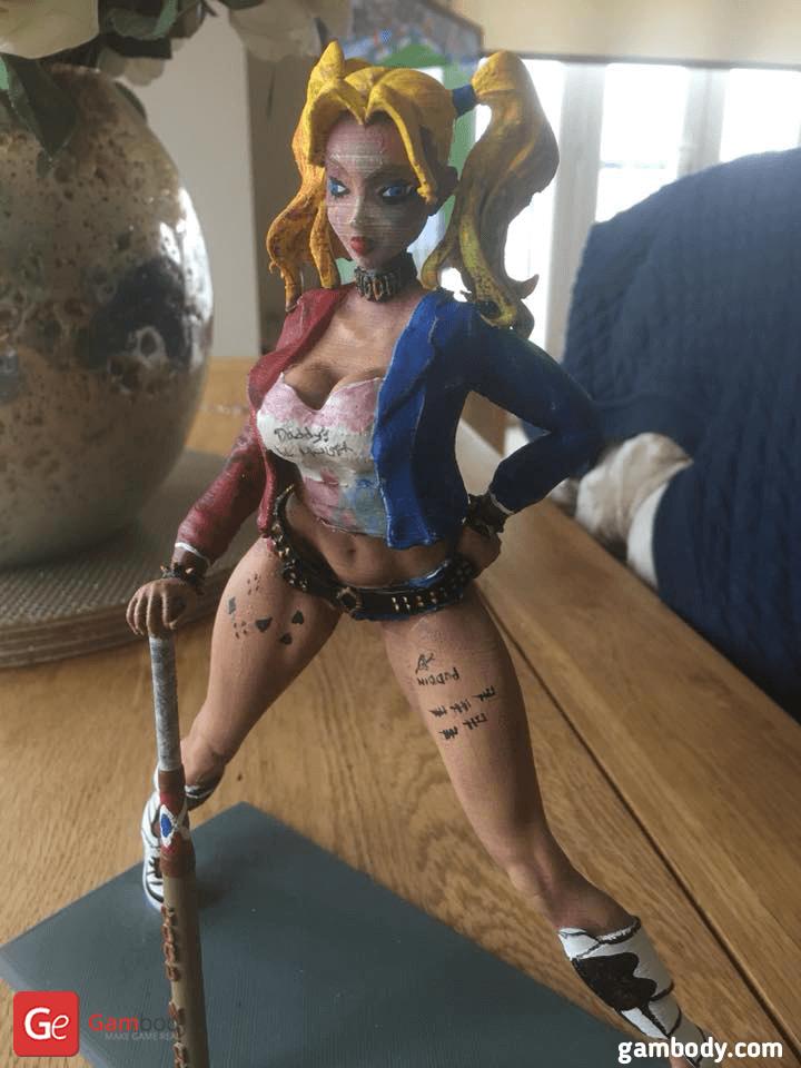 Harley Quinn 3D Printing Figurine