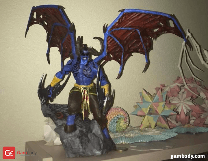 Illidan 3D Printing Figurine Photo 3