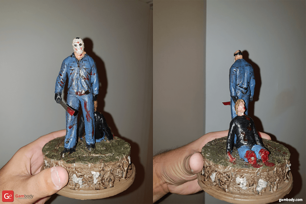 Jason Voorhees Diorama for 3D Printing