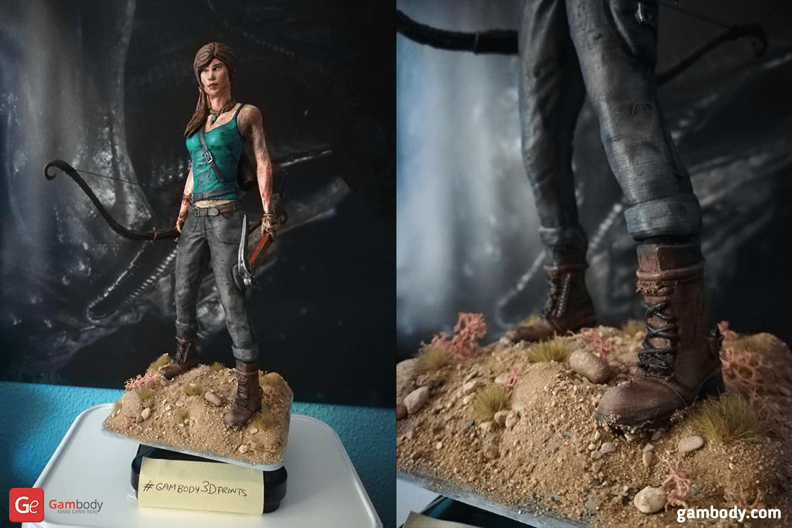 Lara Croft 3D Printing Figurine Photo 2