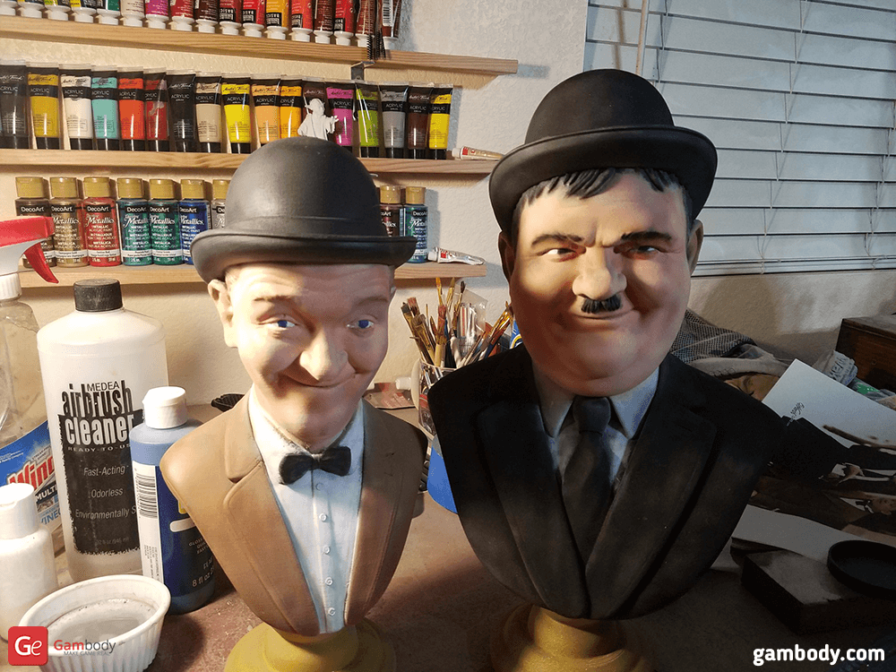 Laurel and Hardy 3D Printing Busts