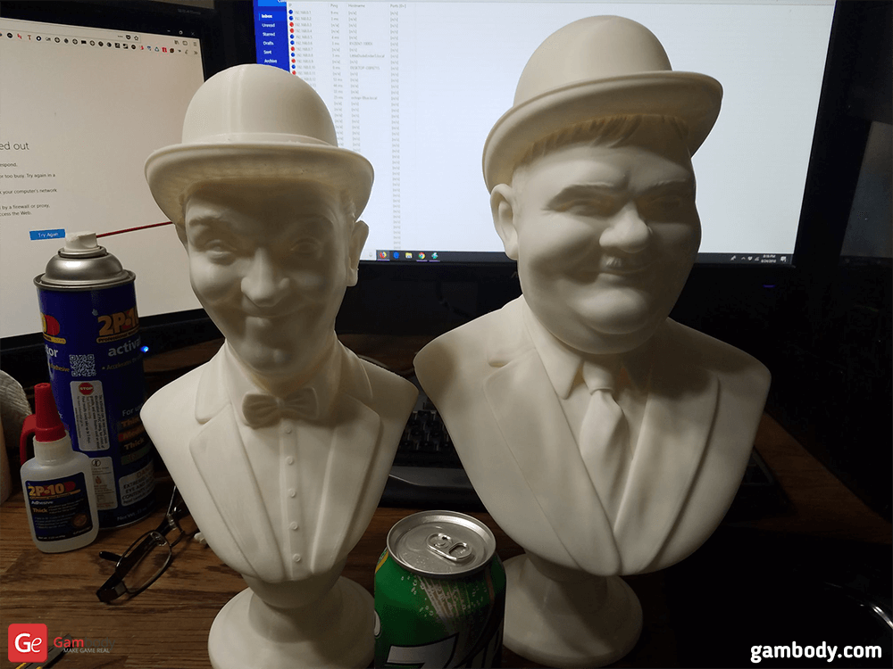 Laurel and Hardy 3D Printing Busts Photo 2