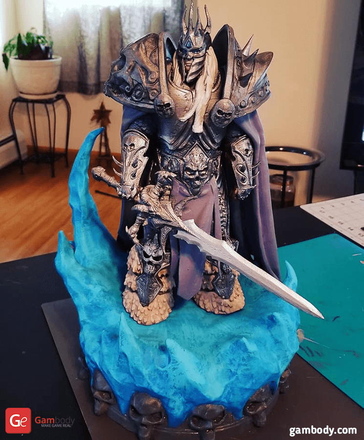 Lich King 3D Printing Figurine Photo 2