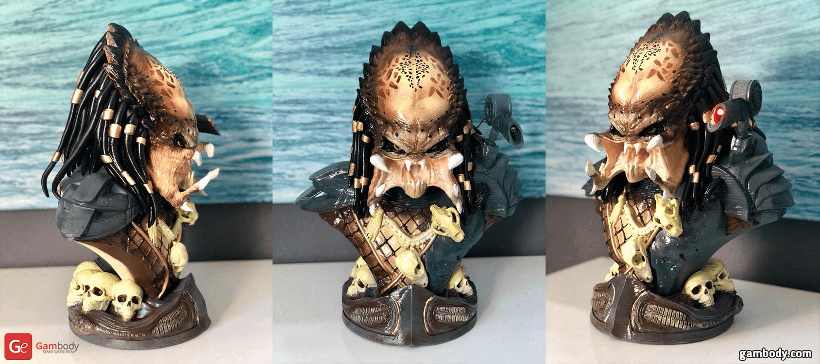 Predator Bust 3D Printing Figurine Photo 2