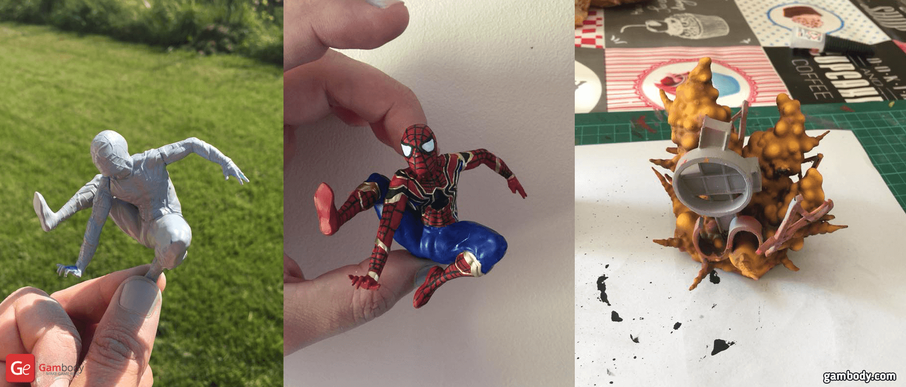 Spider Man 3D Printing Figurine Photo 2