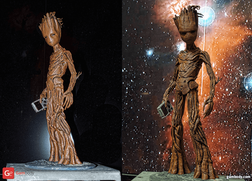 Teenager Groot 3D Printing Figurine