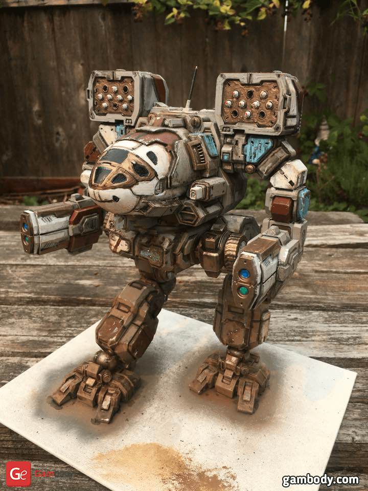 Timber Wolf 3D Printing Model