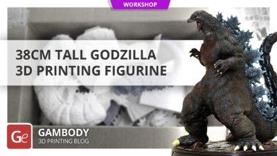 38cm Tall Godzilla 3D Printing Figurine