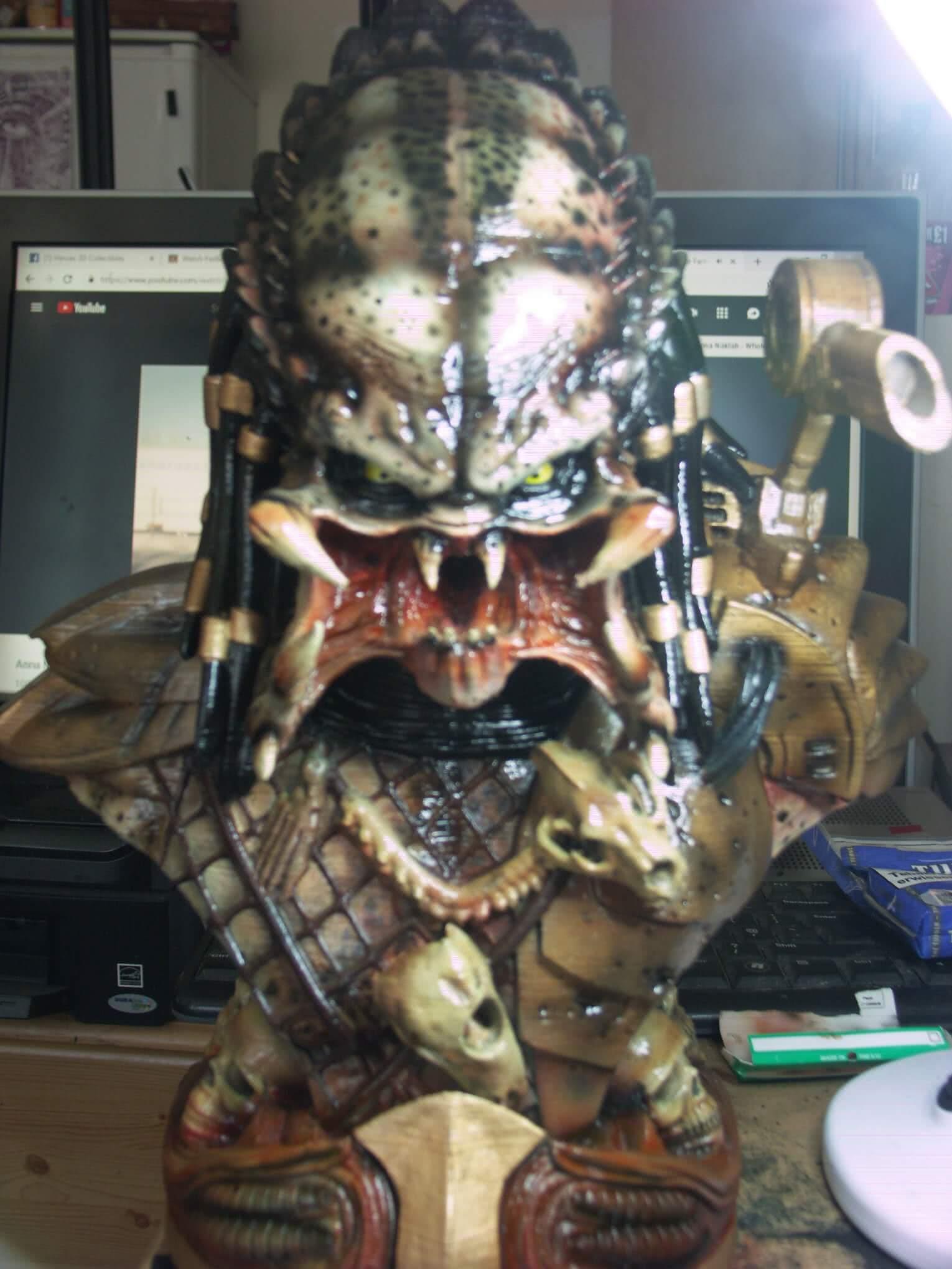 Predator 3D Printing Bust