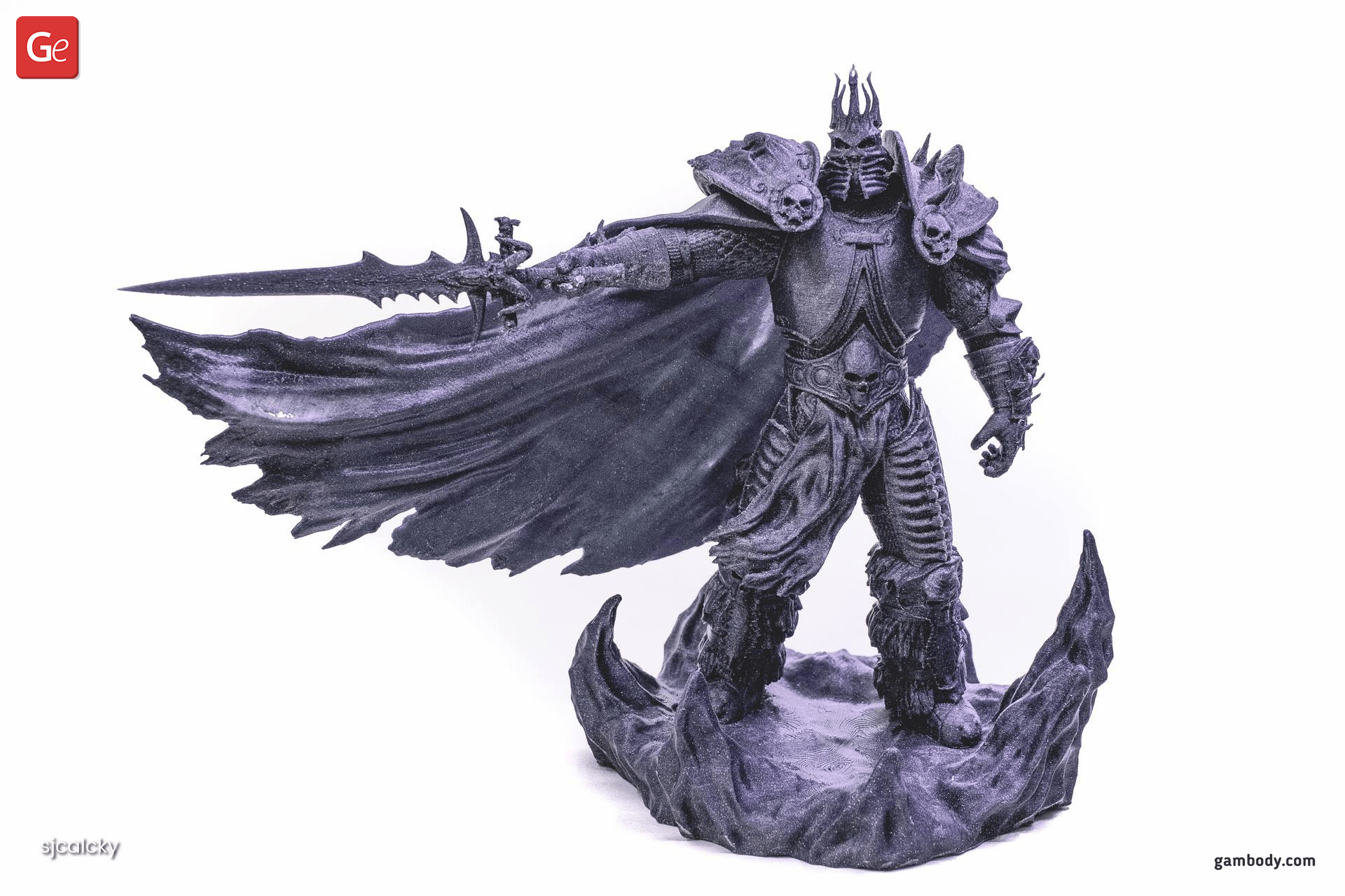 Lich King 3D Printing Figurine