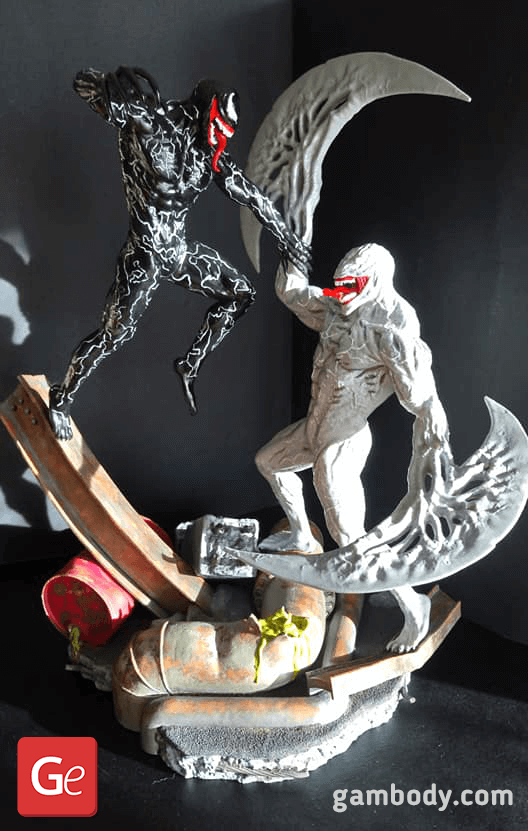 Venom vs Riot 3D Printing Diorama