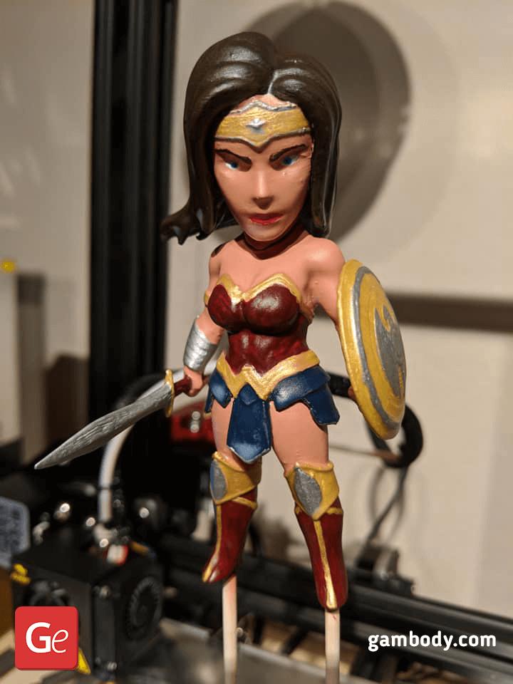 Chibi Wonder Woman 3D Printing Figurine 2