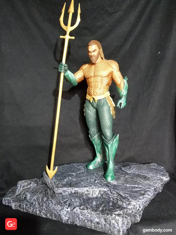 Aquaman King of Atlantis made on affordable Creality CR-10 3D printer for beginners