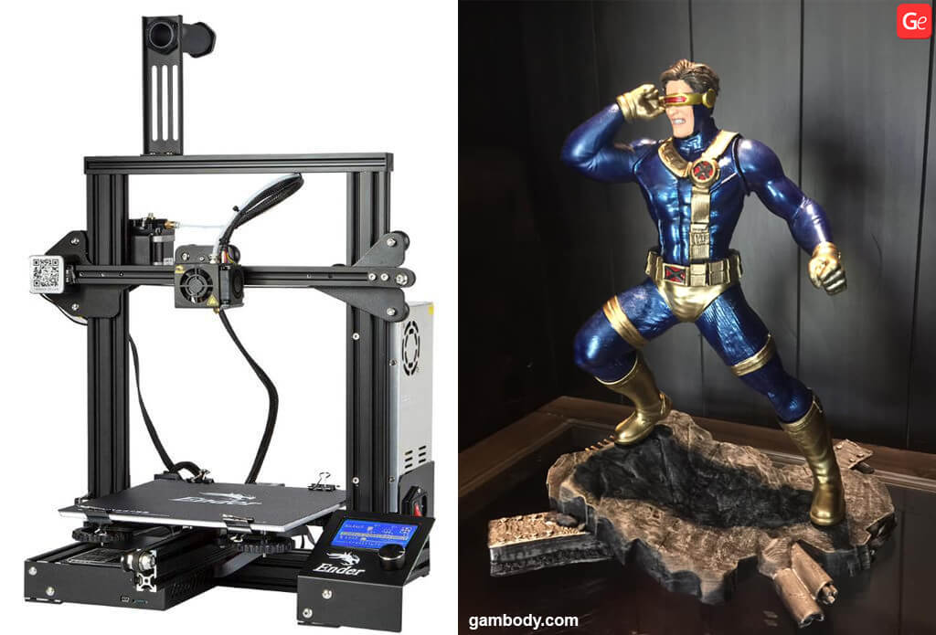 Cyclops 3D printed on Creality cheap 3D printer for beginners