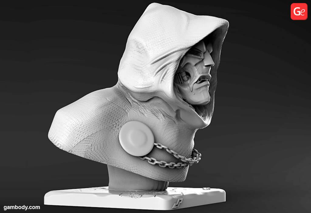 Marvel villains Dr Doom 3D model to print