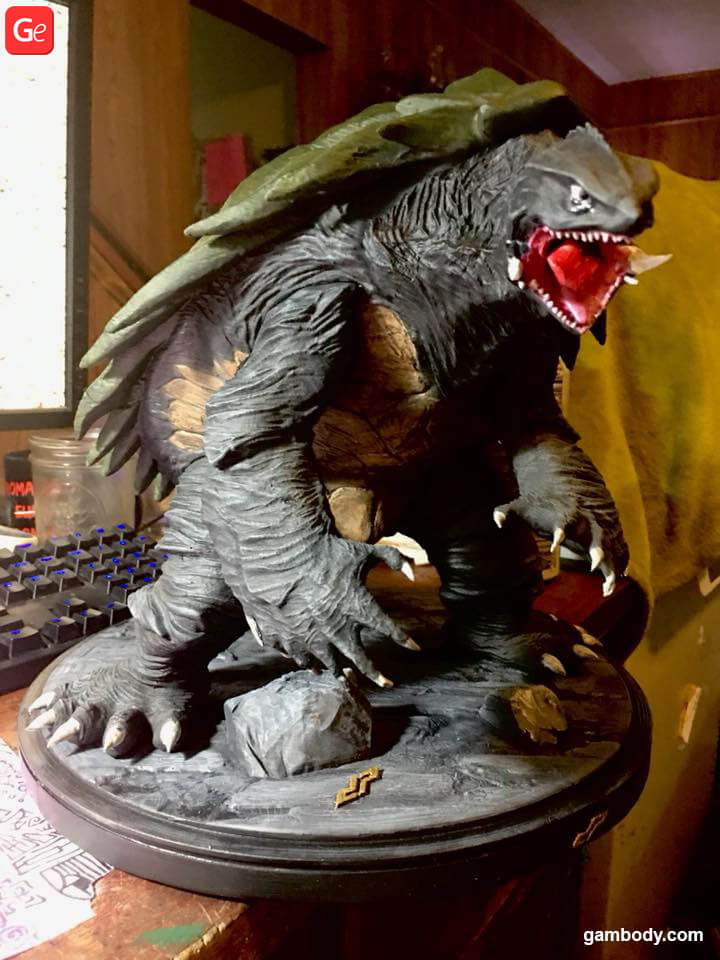 Gamera made on affordable 3D printer for beginners Creality CR-10
