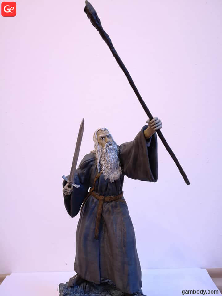 Gandalf the Grey made on affordable Anycubic I3 Mega 3D printer for beginners 2019