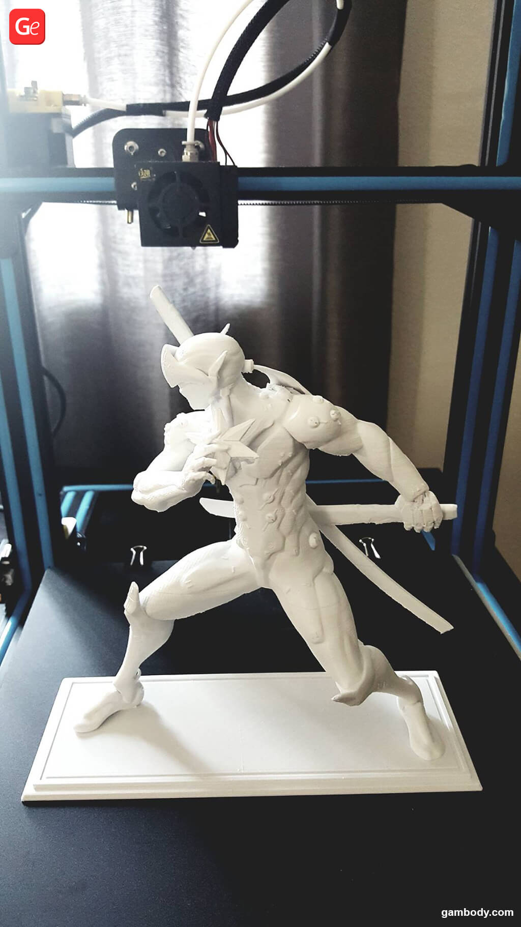 Genji 3D print made on affordable 3D printer CR-10