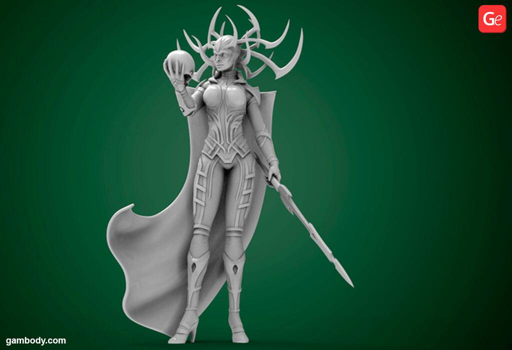 Hela 3D model for 3D printing