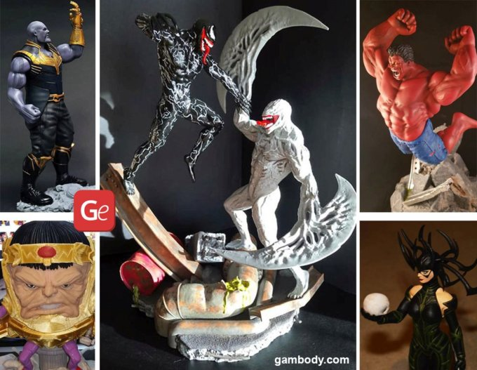 16 Famous Marvel Villains: 3D Printing Files for Collectible Figurines