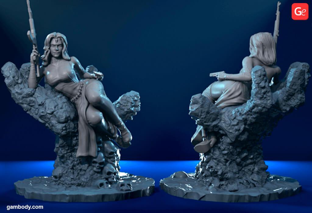 Mystique Marvel villain as a 3D printing model