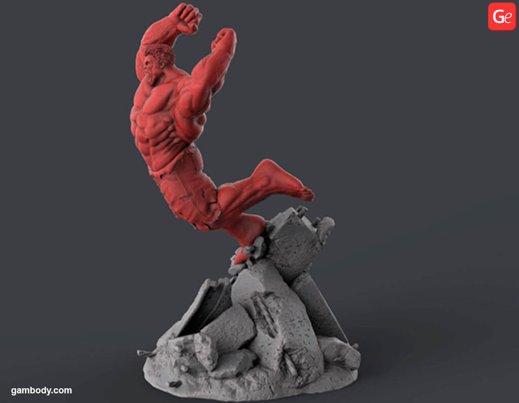 Marvel villains Red Hulk 3D printing files