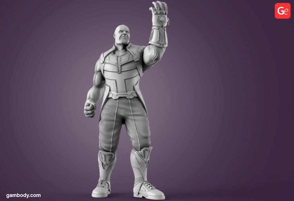Marvel villains Thanos 3D print model