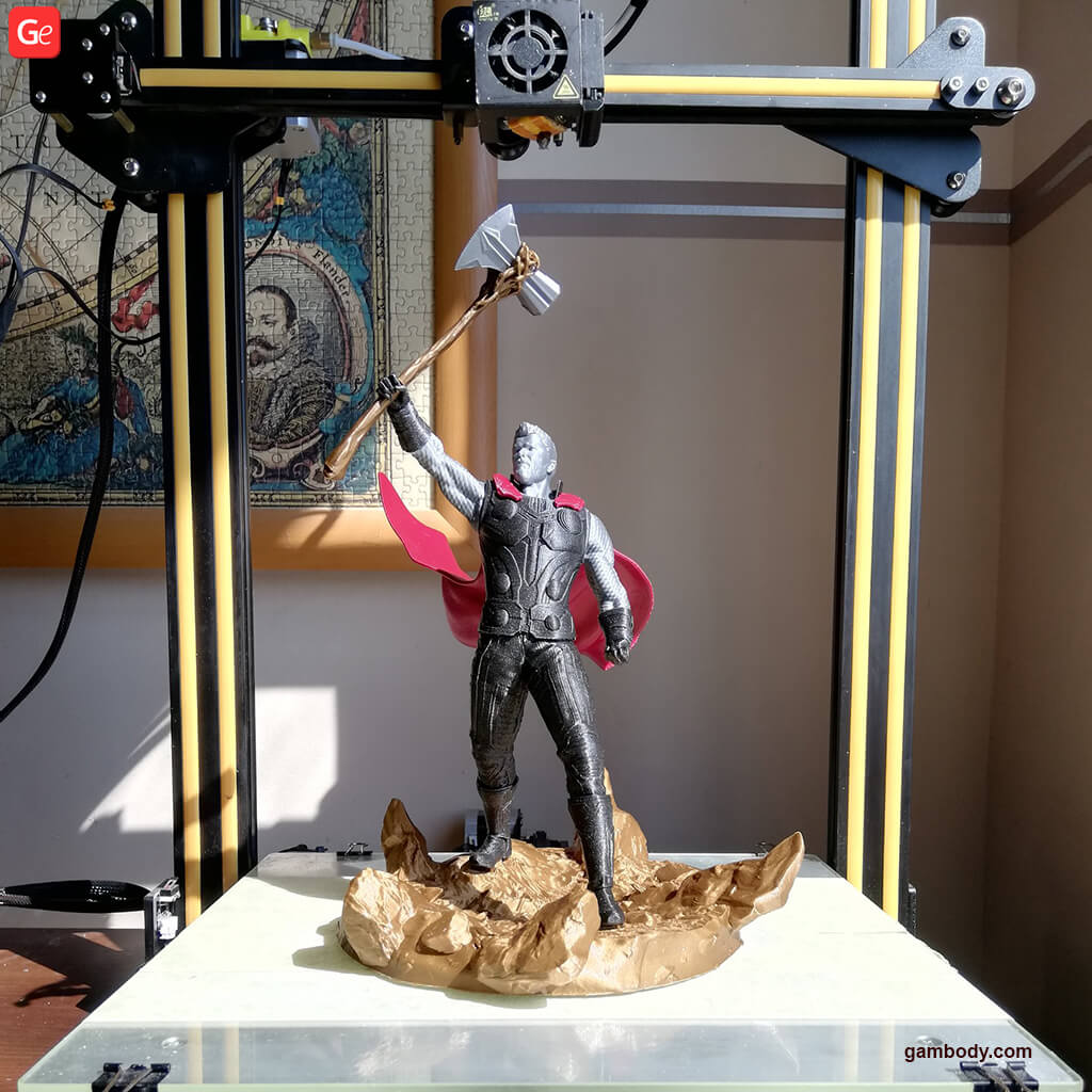 Thor 3D printed on affordable Creality CR-10 printer