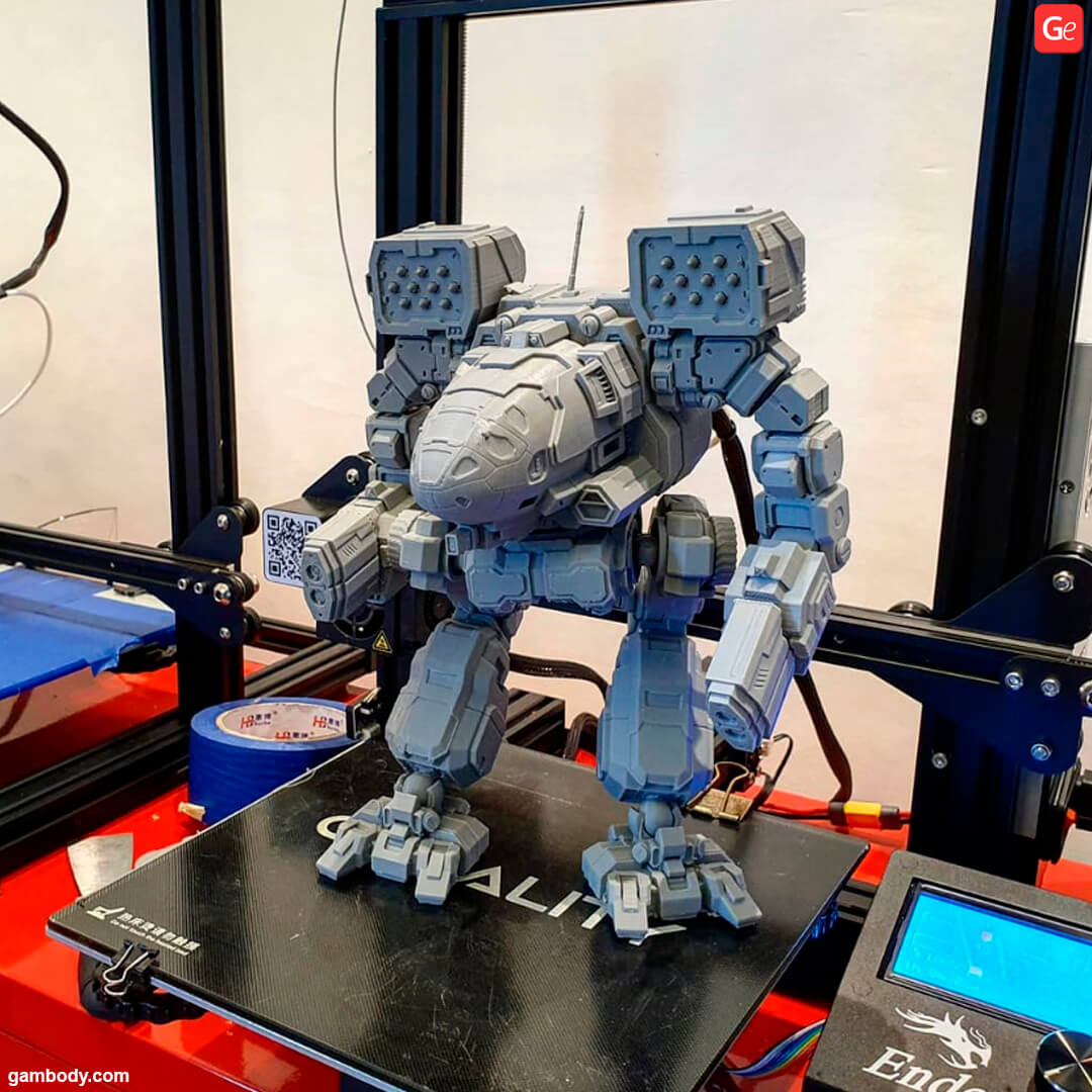 Mechwarrior Timber Wolf 3D printed on affordable Creality Ender-3