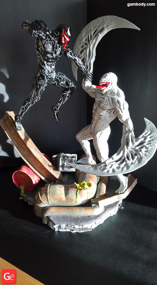 Marvel villains Venom and Riot 3D print