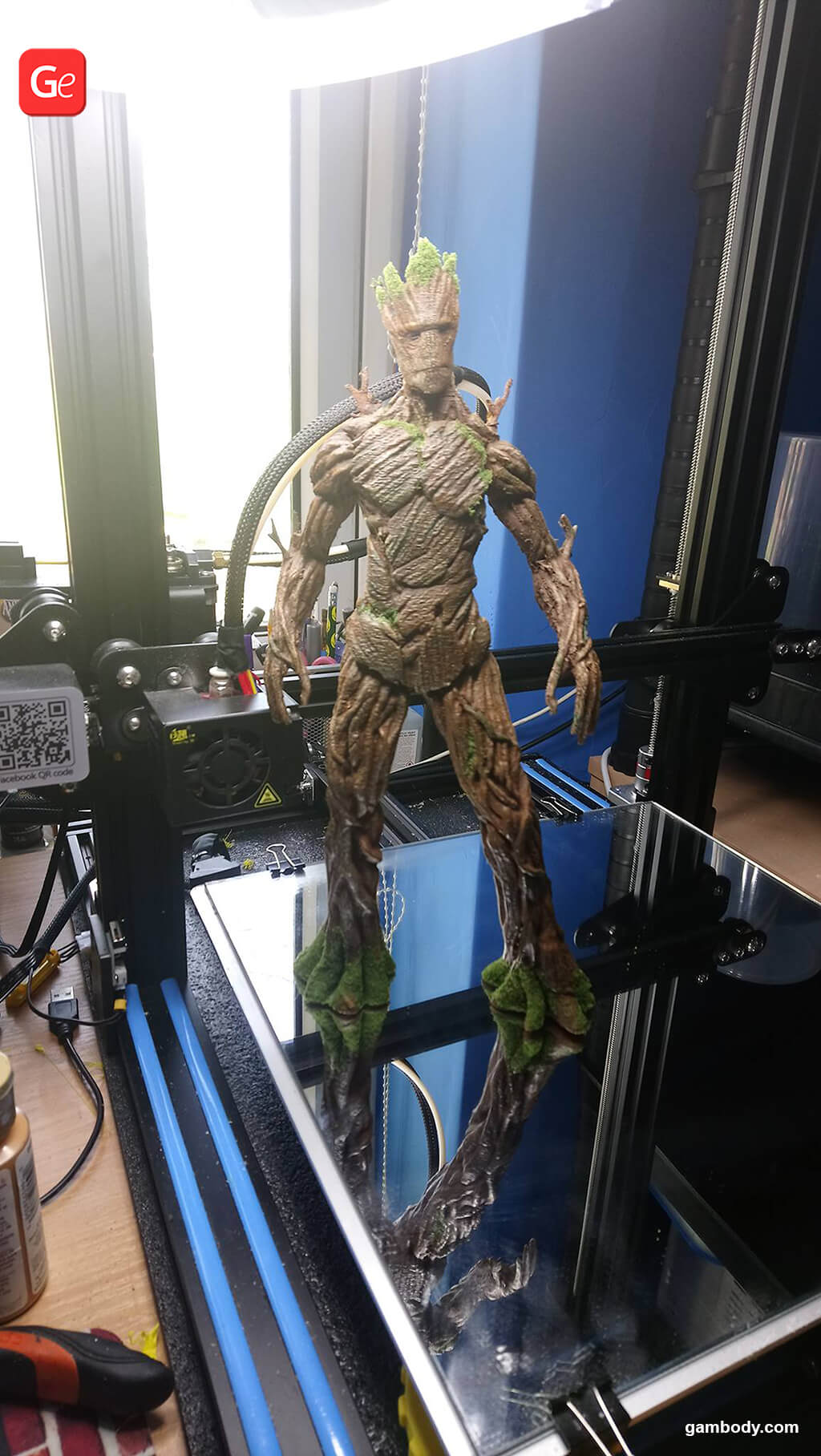 Adult Groot made on affordable 3D printer under $700
