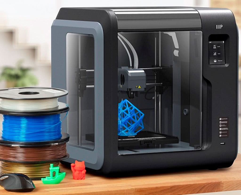 Cheap 3D printer for beginners Monoprice MP Voxel