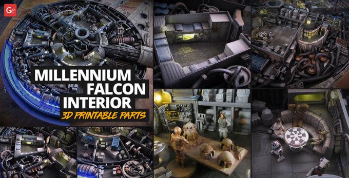 Fabulous Millennium Falcon Build Diary with Custom Interior 3D Printable Parts
