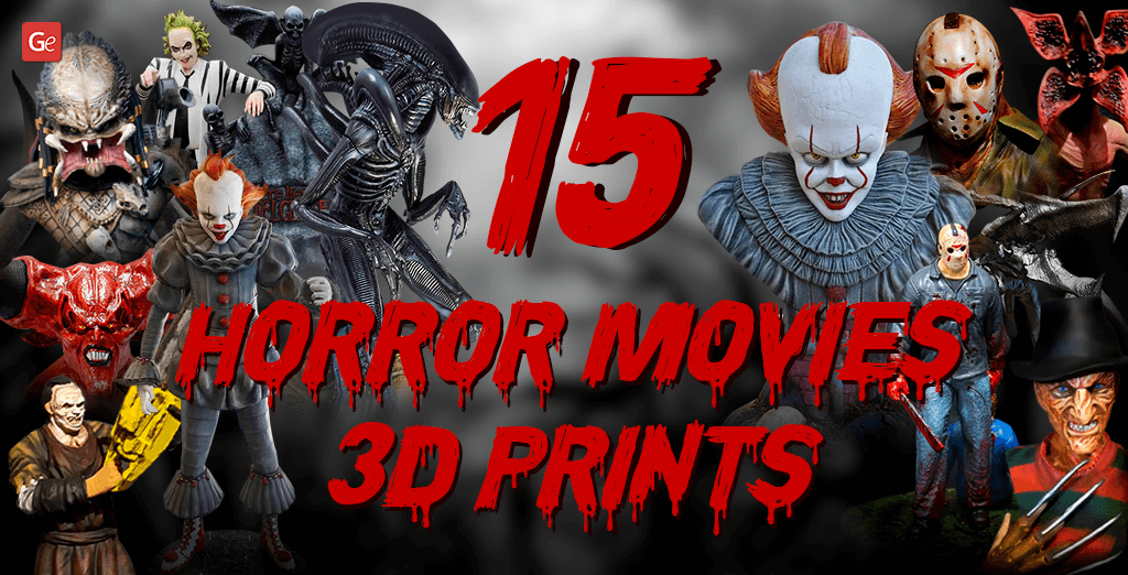 3D printed horrors figure collection from movies