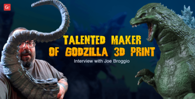 Meet a Talented Maker of Godzilla 3D Print: Interview with Joe Broggio